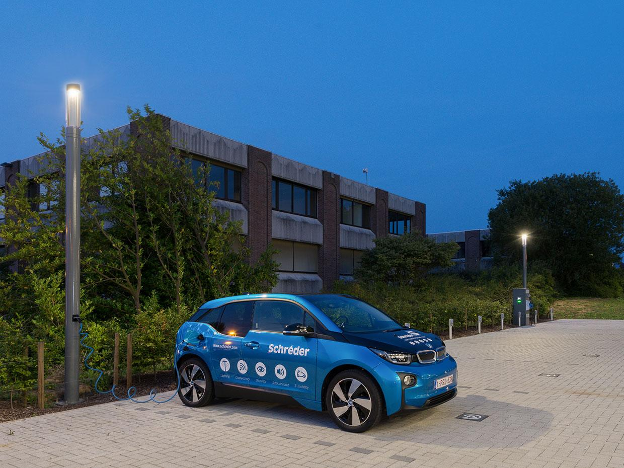 Shuffle fitted with EV charges helps improve sustainable mobility